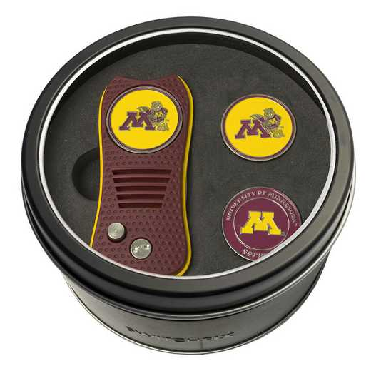 24359: Tin GftSt Swtchfix 2BallMkrs Minnesota Golden Gophers