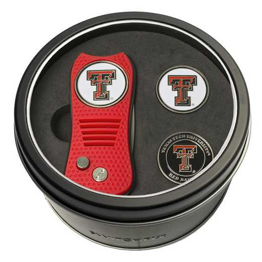 25159: Tin GftSt Swtchfix 2BallMkrs Texas Tech Red Raiders