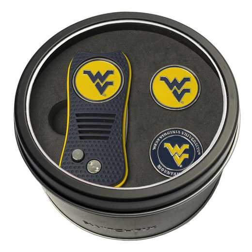 25659: Tin GftSt Swtchfix 2BallMkrs West Virginia Mountaineers