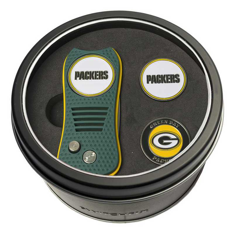 31059: Tin GftSt Swtchfix 2BallMkrs Green Bay Packers