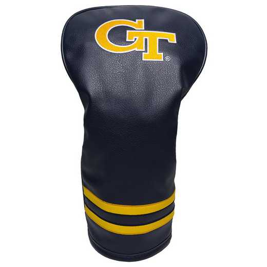 21211: Vintage Driver Head Cover Georgia Tech Yellow Jackets