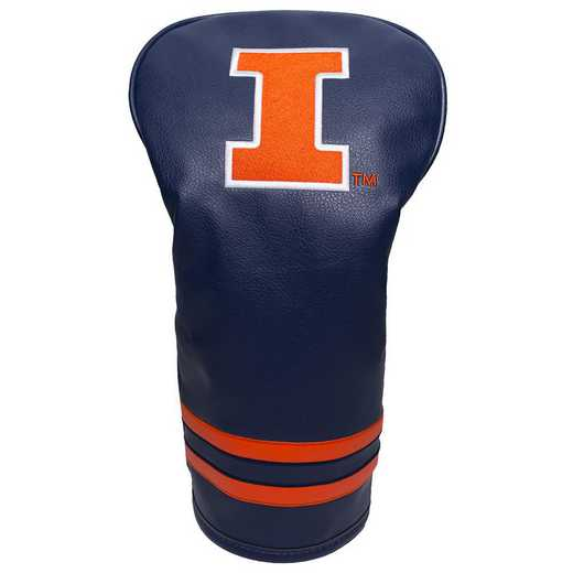 21311: Vintage Driver Head Cover Illinois Fighting Illini