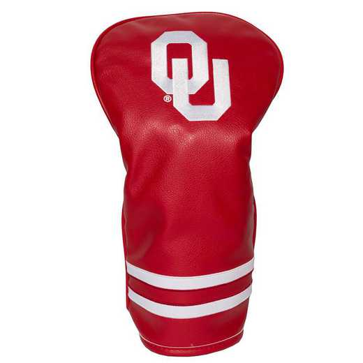 24411: Vintage Driver Head Cover Oklahoma Sooners