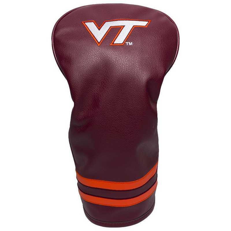 25511: Vintage Driver Head Cover Virginia Tech Hokies