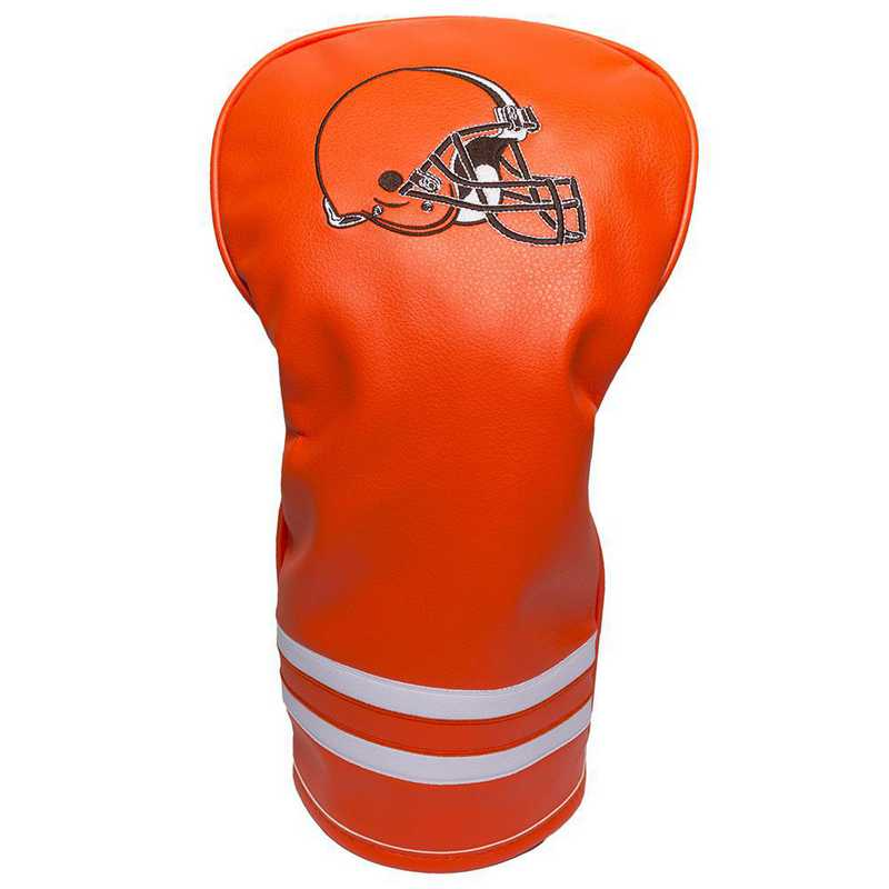 30711: Vintage Driver Head Cover Cleveland Browns