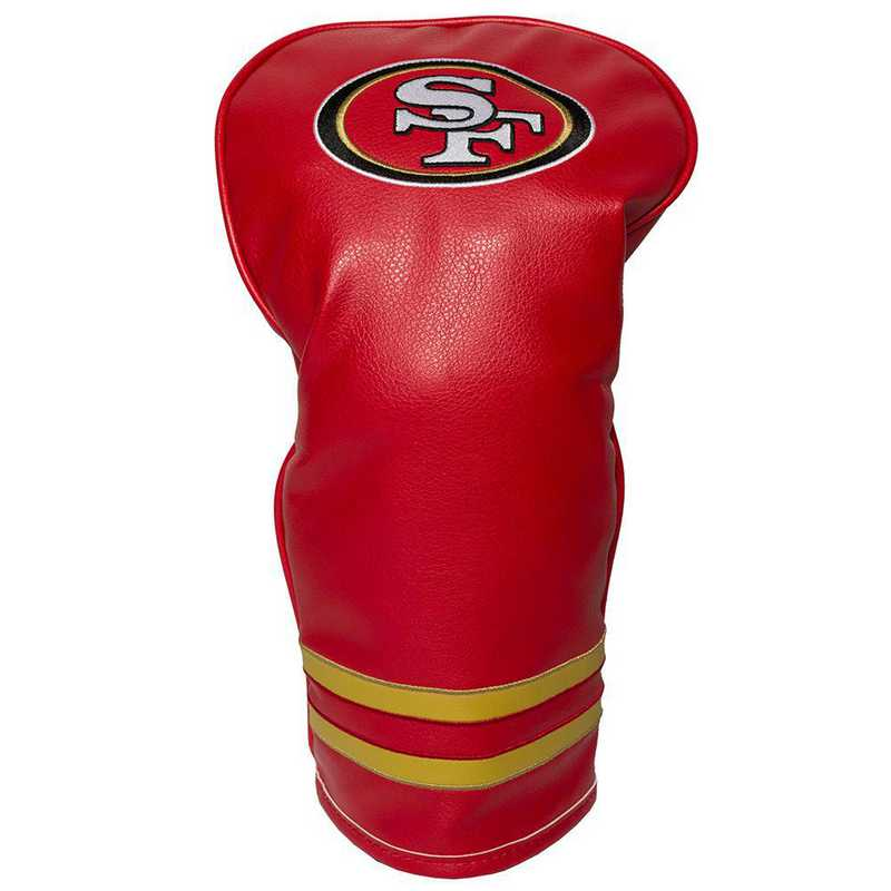 32711: Vintage Driver Head Cover San Francisco 49ers