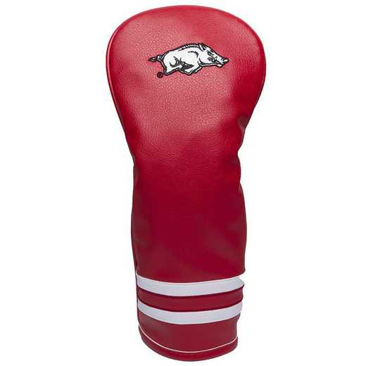 20426: Vintage Fairway Head Cover Arkansas Razorbacks