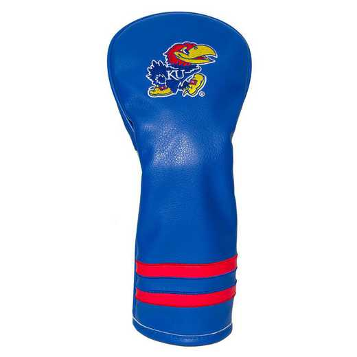21726: Vintage Fairway Head Cover Kansas Jayhawks