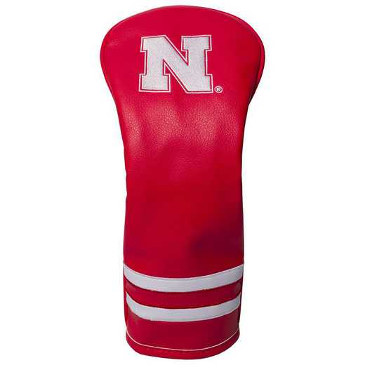22426: Vintage Fairway Head Cover Nebraska Cornhuskers