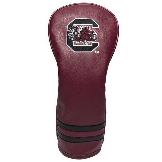 23126: Vintage Fairway Head Cover South Carolina Gamecocks