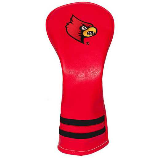 24226: Vintage Fairway Head Cover Louisville Cardinals