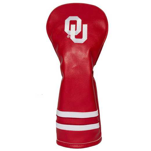 24426: Vintage Fairway Head Cover Oklahoma Sooners