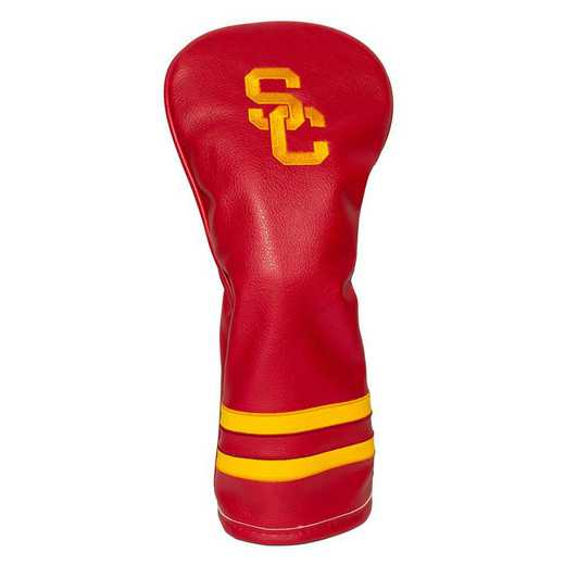 27226: Vintage Fairway Head Cover USC Trojans