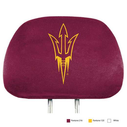 HRPU004: Arizona State Printed Auto Headrest Cover Set