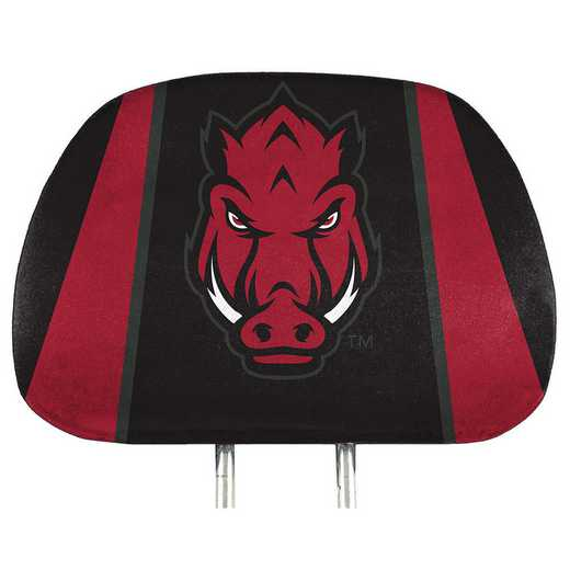 HRPU010: Arkansas Printed Auto Headrest Cover Set