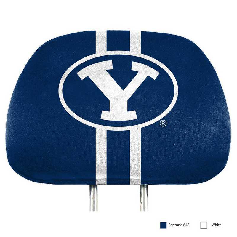 HRPU012: BYU Printed Auto Headrest Cover Set