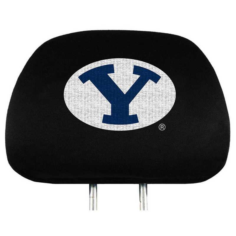 HRU012: BYU Embroidered Headrest Cover Set