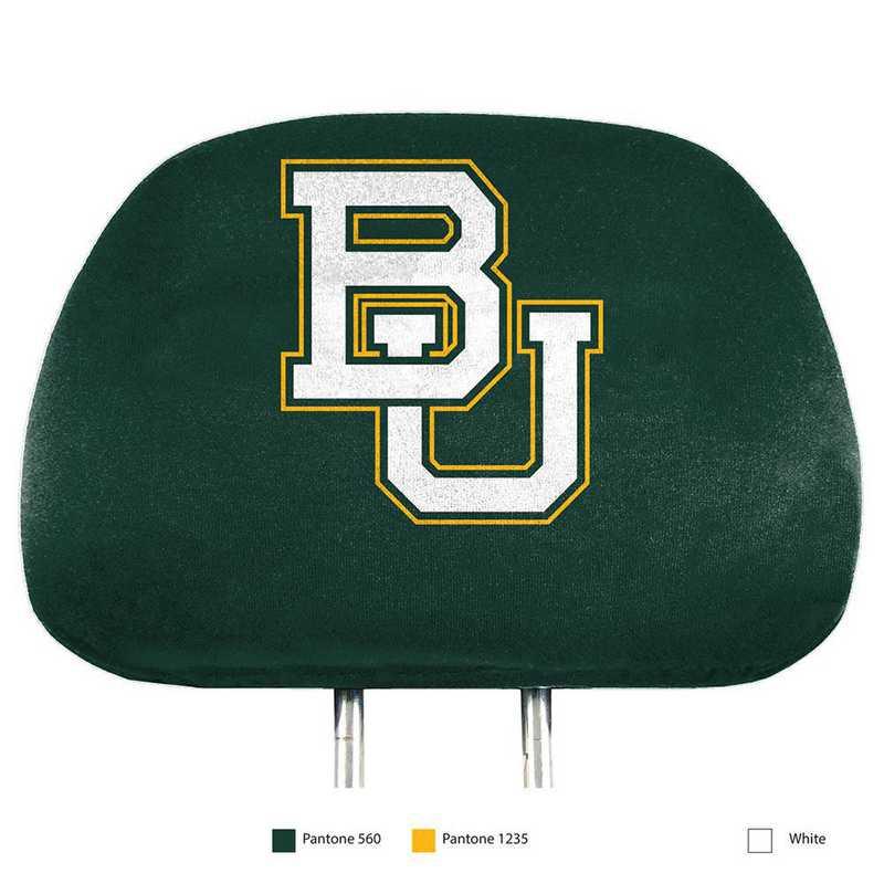 HRPU008: Baylor Printed Auto Headrest Cover Set