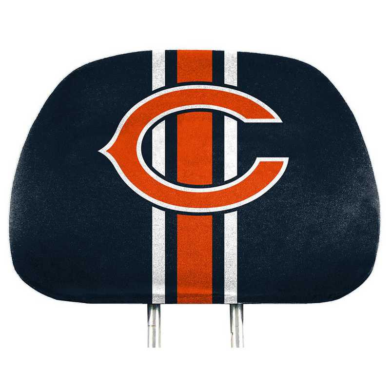 HRPNF06: Chicago Bears Printed Auto Headrest Cover Set