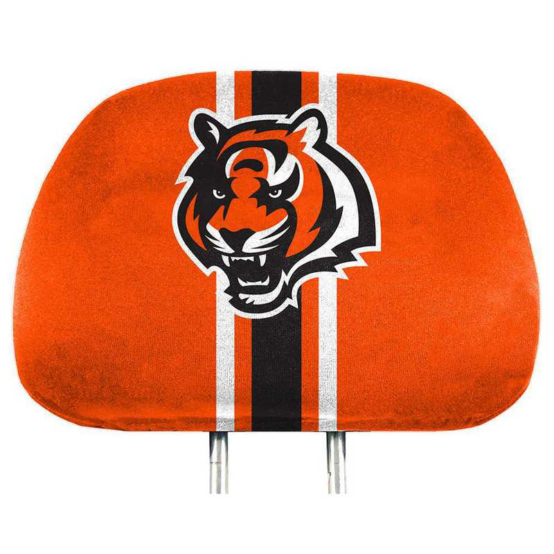 HRPNF07: Cincinnati Bengals Printed Auto Headrest Cover Set
