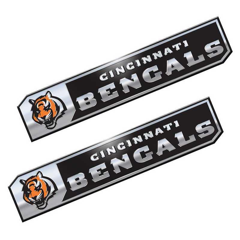PENF07: Cincinnati Bengals Premium Aluminum Auto Emblem 2-Pack