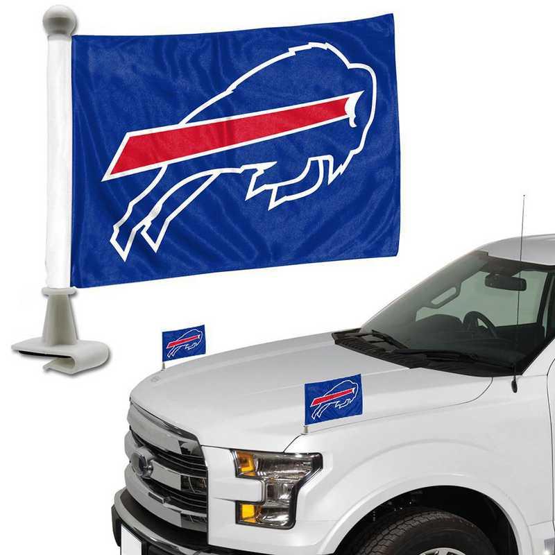 ABFNF04: Buffalo Bills Auto Ambassador Flag Pair