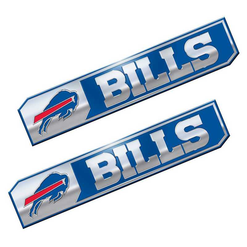 PENF04: Buffalo Bills Premium Aluminum Auto Emblem 2-Pack