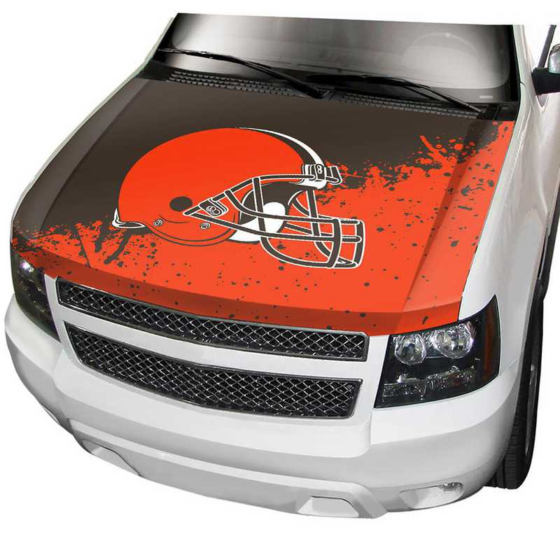 HCNF08: Cleveland Browns Auto Hood Cover