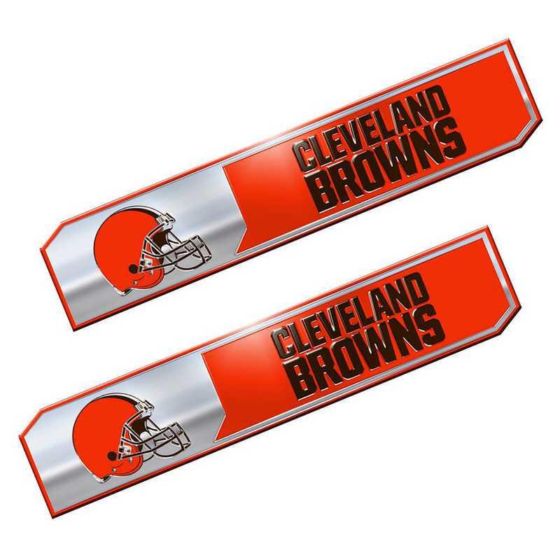 PENF08: Cleveland Browns Premium Aluminum Auto Emblem 2-Pack
