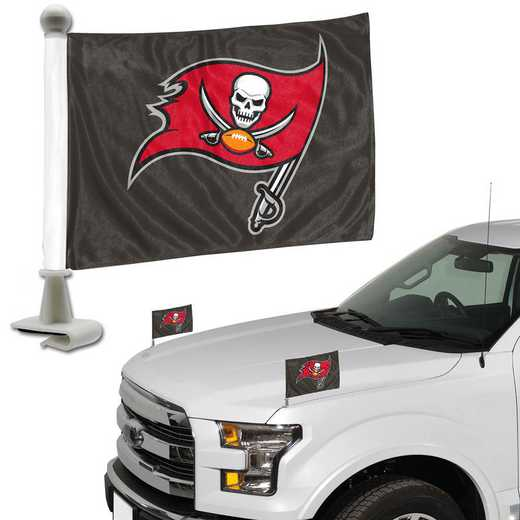 ABFNF29: Tampa Bay Buccaneers Auto Ambassador Flag Pair