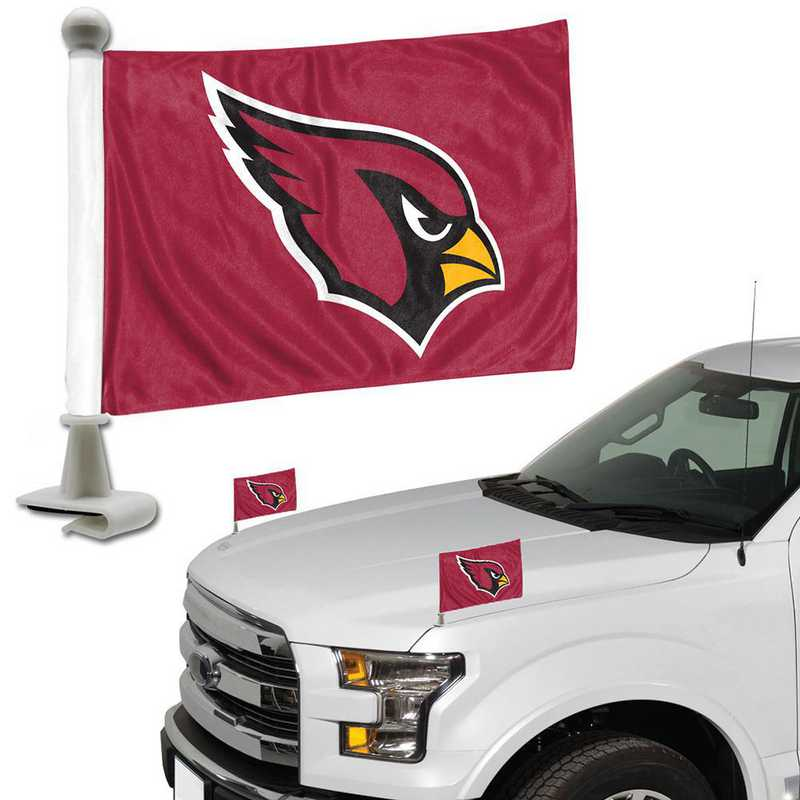 ABFNF01: Arizona Cardinals Auto Ambassador Flag Pair