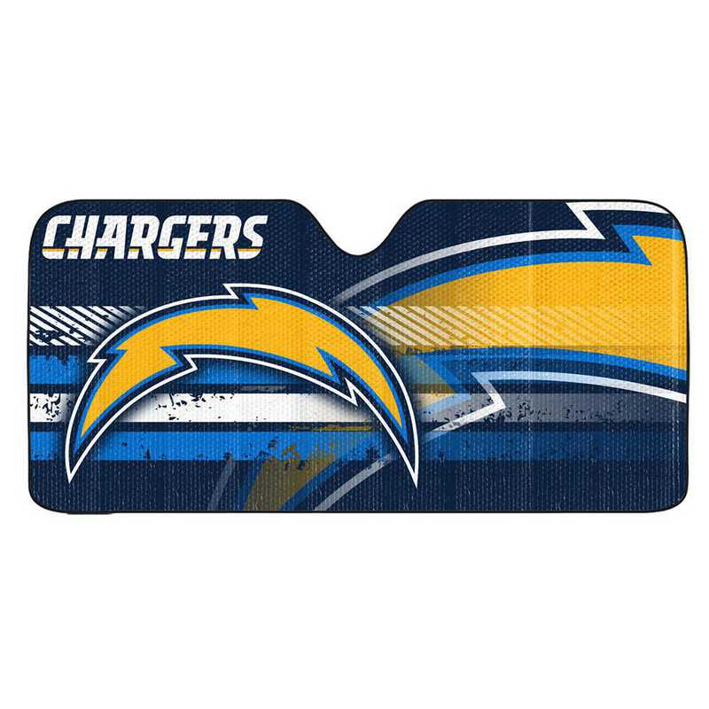 AS2NF25: LA Chargers Universal Auto Sun Shade