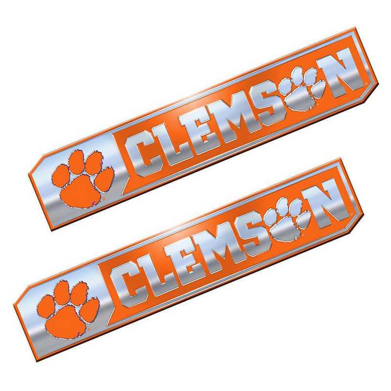 PEU014: Clemson Premium Aluminum Auto Emblem 2-Pack