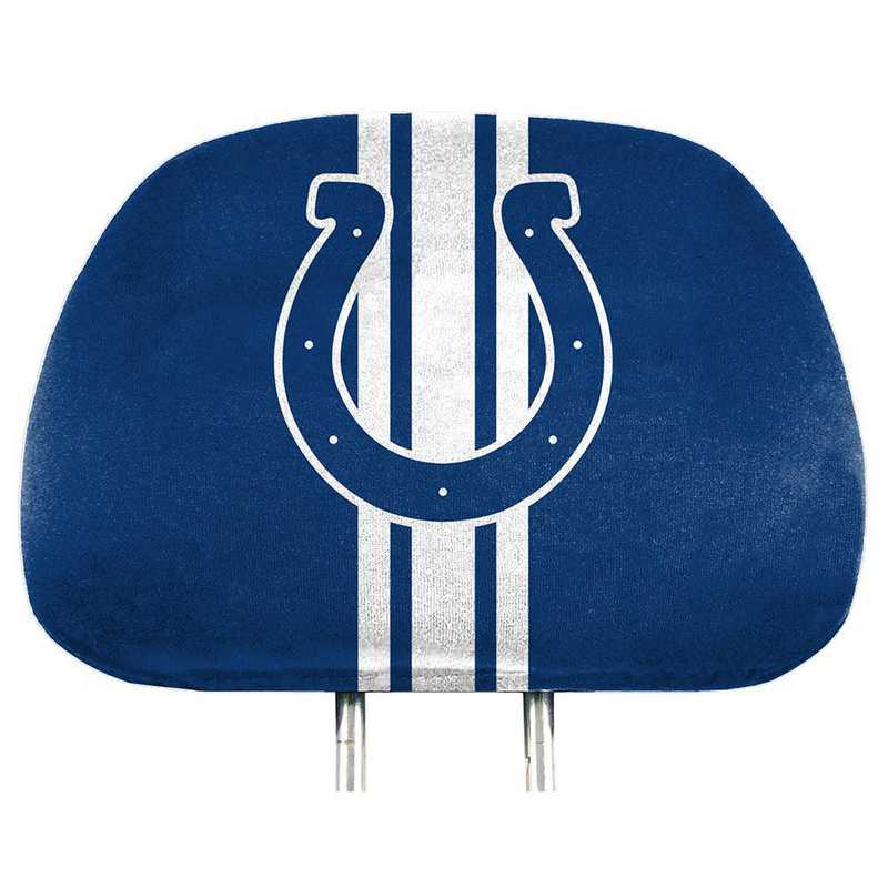 HRPNF13: Indiana Colts Printed Auto Headrest Cover Set