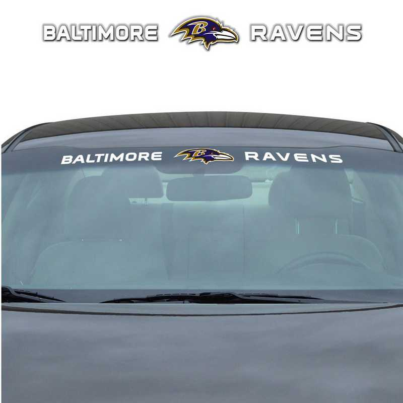 WSDNF03: Baltimore Ravens Auto Windshield Decal