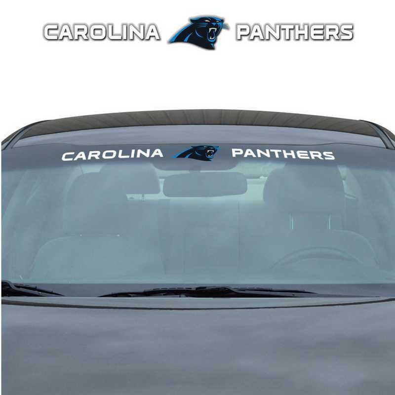 WSDNF05: Carolina Panthers Auto Windshield Decal