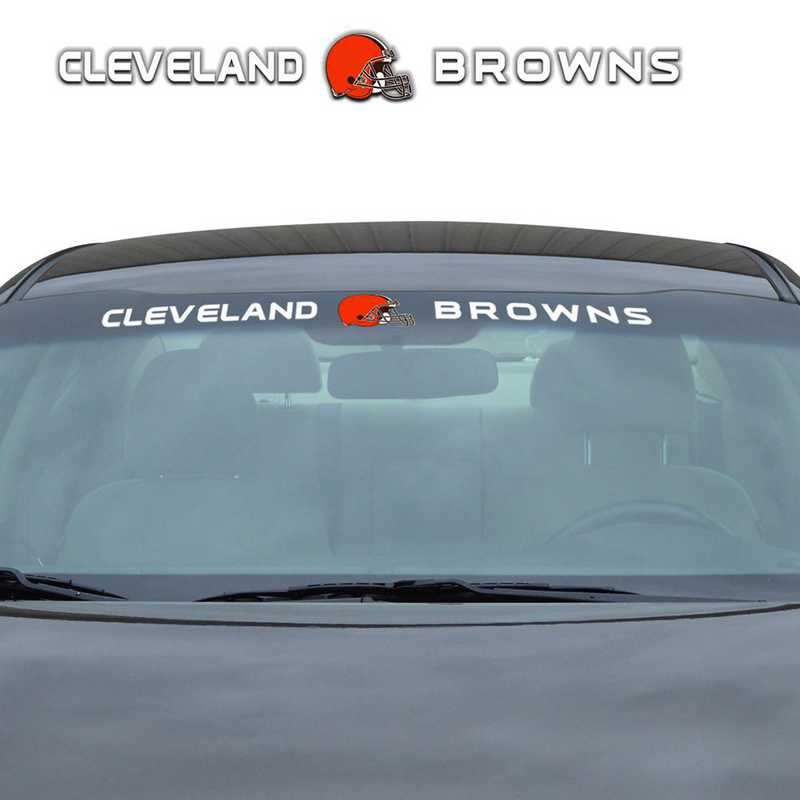 WSDNF08: Cleveland Browns Auto Windshield Decal