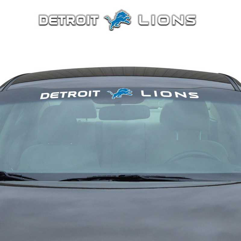 WSDNF11: Detroit Lions Auto Windshield Decal