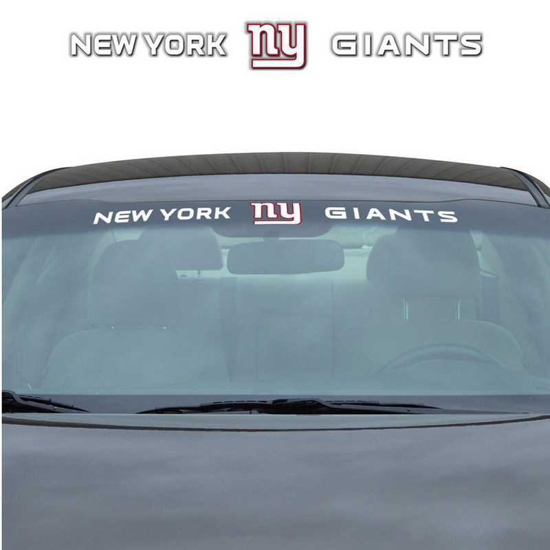 WSDNF20: New York Giants Auto Windshield Decal