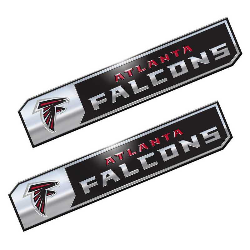 PENF02: Atlanta Falcons Premium Aluminum Auto Emblem 2-Pack