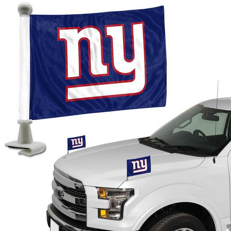 ABFNF20: New York Giants Auto Ambassador Flag Pair