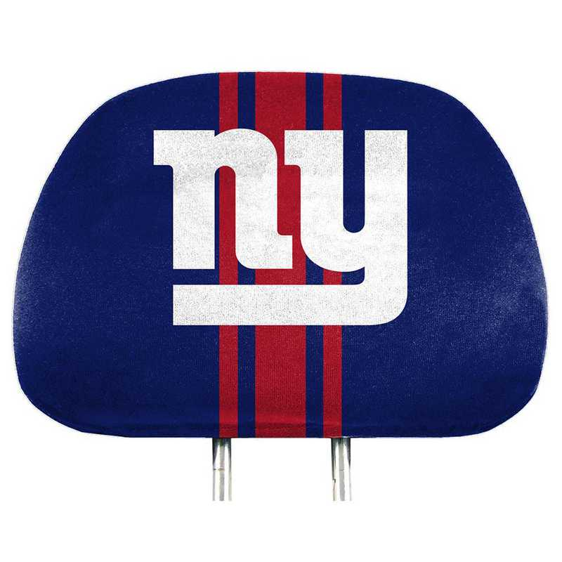 HRPNF20: New York Giants Printed Auto Headrest Cover Set