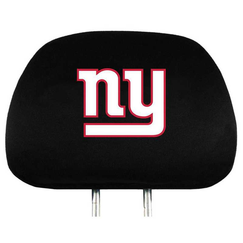 HRNF20: New York Giants Embroidered Headrest Cover Set