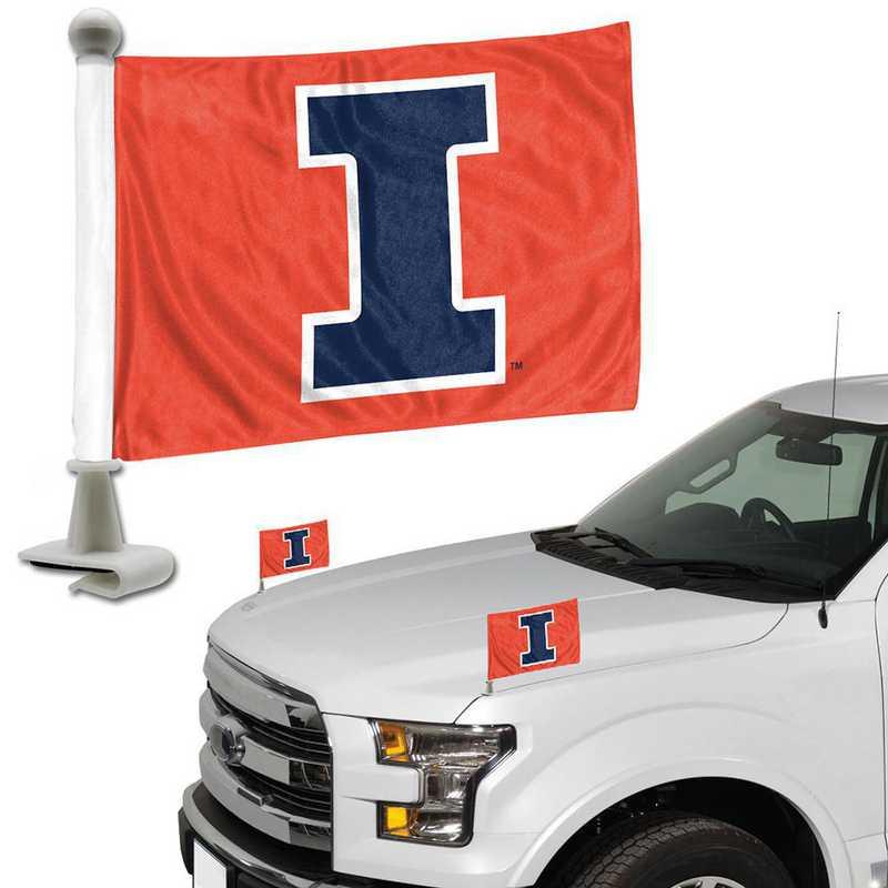 ABFU023: Illinois Auto Ambassador Flag Pair