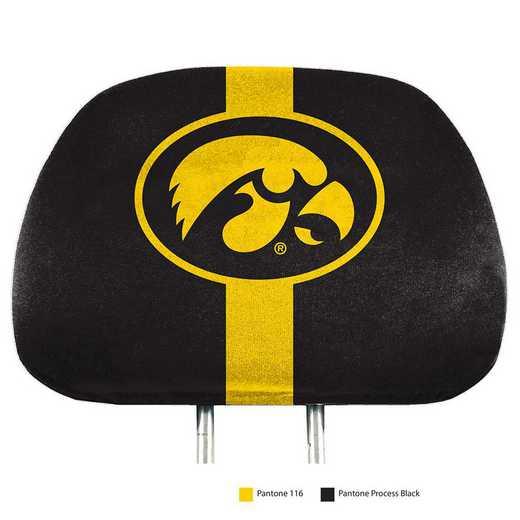HRPU025: Iowa Printed Auto Headrest Cover Set