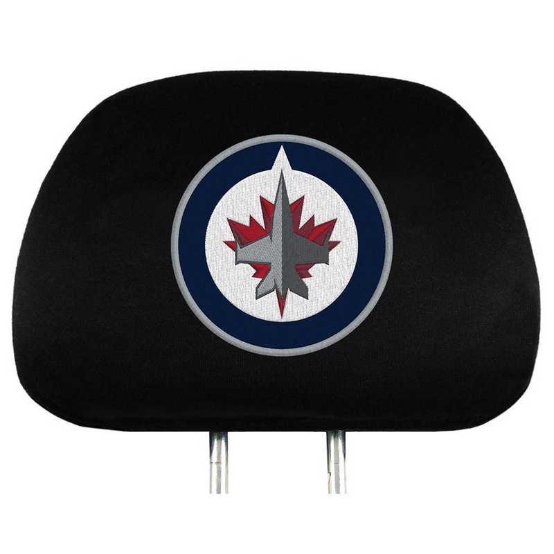 HRNH30: Winnipeg Jets Embroidered Headrest Cover Set
