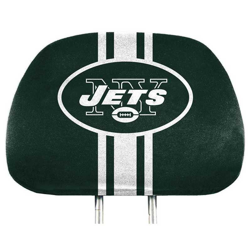 HRPNF21: New York Jets Printed Auto Headrest Cover Set