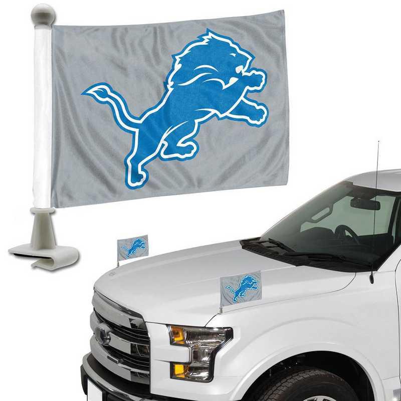 ABFNF11: Detroit Lions Auto Ambassador Flag Pair