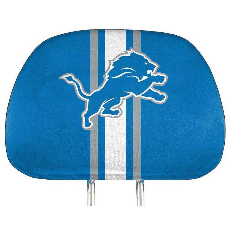 HRPNF11: Detroit Lions Printed Auto Headrest Cover Set