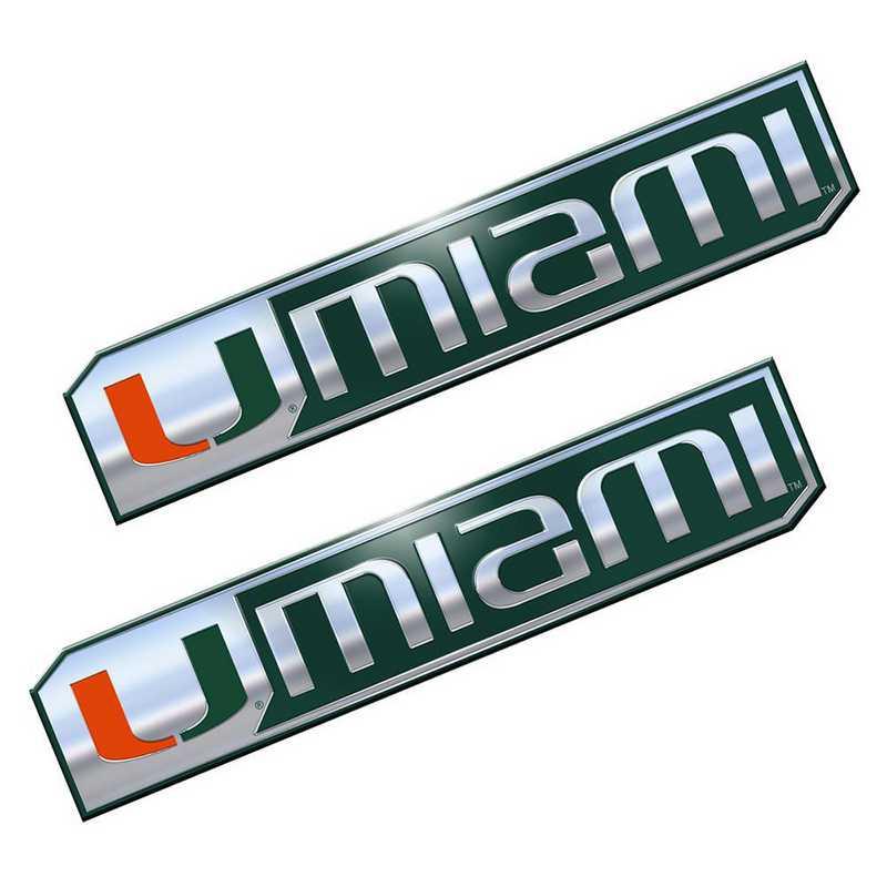 PEU034: Miami Premium Aluminum Auto Emblem 2-Pack